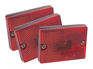 46982-3 – Rectangular Submersible Clearance Marker Light w/ Built-In Reflector, Red, Bulk Pack