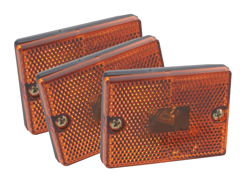 46983-3 – Rectangular Submersible Clearance Marker Light w/ Built-In Reflector, Replacement, Yellow, Bulk Pack