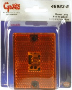 46983-5 – Rectangular Submersible Clearance Marker Light w/ Built-In Reflector, Replacement, Yellow, Retail Pack