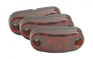 47012-3 – 2 1/2″ Oval LED Clearance Marker Lights, Red, Bulk Pack