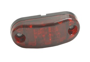 47012 – 2 1/2″ Oval LED Clearance Marker Light, Red