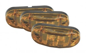 47013-3 – 2 1/2″ Oval LED Clearance Marker Lights, Yellow, Bulk Pack