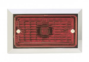 Chrome Plated Rectangular Clearance Marker Lights
