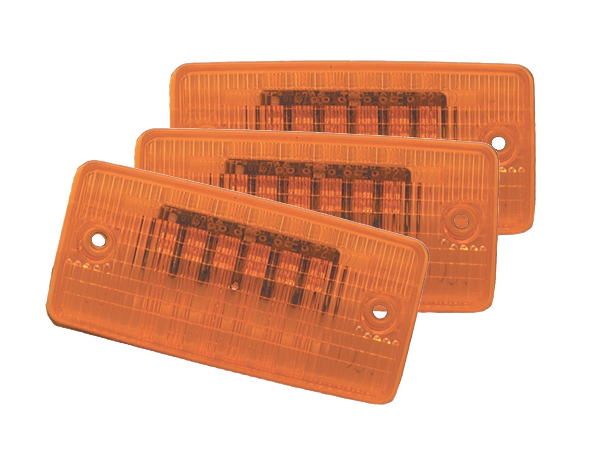 Grote Industries - 47063-3 – SuperNova® Flush-Mount LED Cab Marker Light, Yellow, Bulk Pack