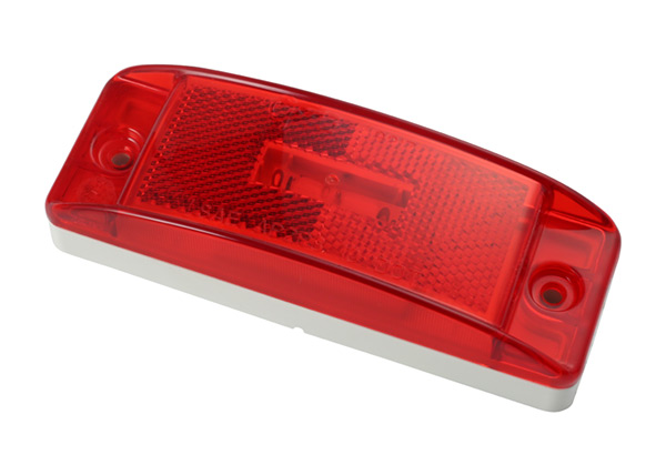 47072 – SuperNova® Sealed Turtleback® II LED Clearance Marker Light, Built-in Reflector, Male Pin, Red