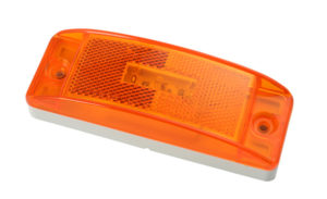 47073 – SuperNova® Sealed Turtleback® II LED Clearance Marker Light, Built-in Reflector, Male Pin, Yellow