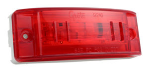 47162 – SuperNova® Sealed Turtleback® II LED Clearance Marker Light, Optic Lens, Male Pin, Red