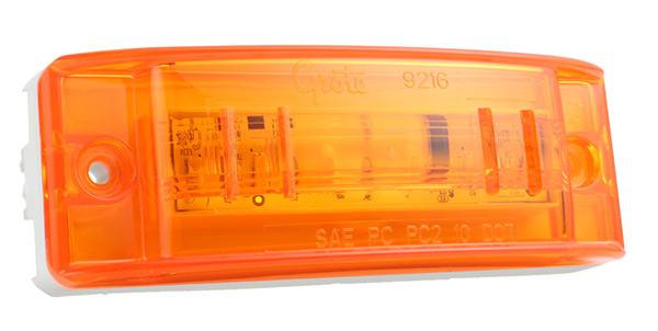Grote Industries - 47163-3 – SuperNova® Sealed Turtleback® II LED Clearance Marker Light, Optic Lens, Male Pin, Yellow, Bulk Pack