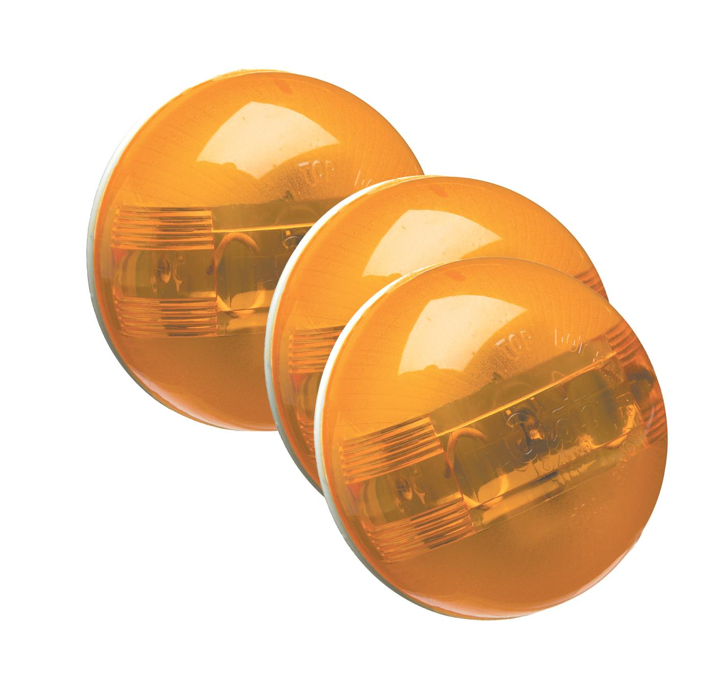 47233-3 – SuperNova® 2 1/2″ PC Rated, LED Clearance Marker Light, Yellow, Bulk Pack