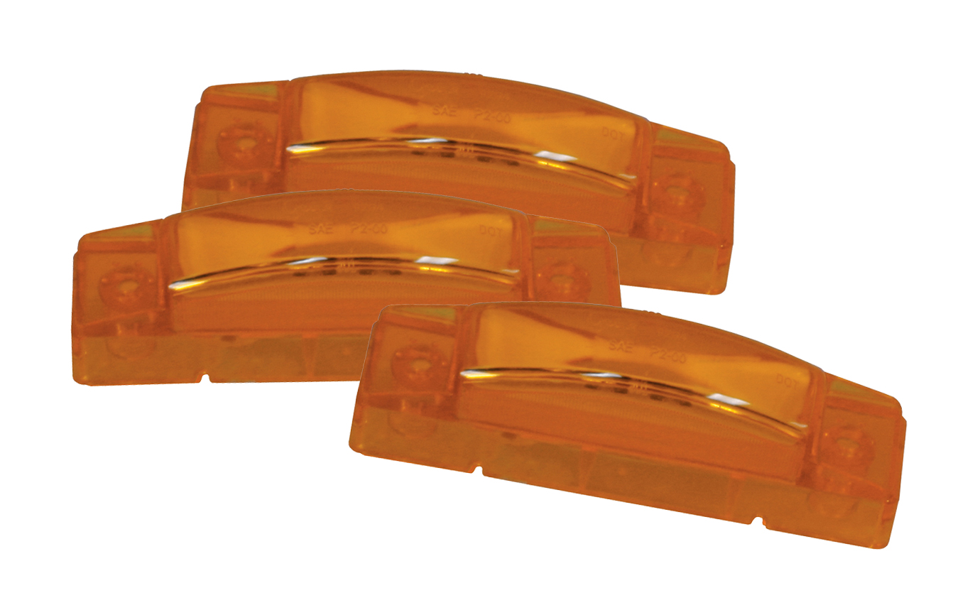 Grote Industries - 47243-3 – SuperNova® 3″ Thin-Line LED Clearance Marker Light, Yellow, Bulk Pack