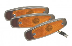 47253-3 – SuperNova® Low-Profile LED Clearance Marker Light, Built-in Reflector, w/ Bezel, Yellow, Bulk Pack