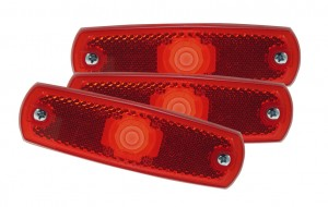 47262-3 – SuperNova® Low-Profile LED Clearance Marker Light, Built-In Reflector w/out Bezel, Red, Bulk Pack
