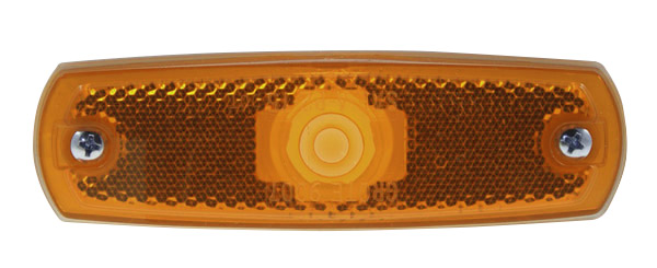 Grote Industries - 47263 – SuperNova® Low-Profile LED Clearance Marker Light, Built-In Reflector w/out Bezel, Yellow