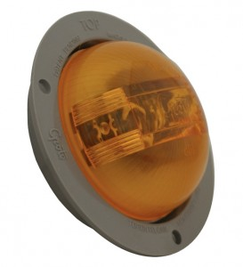 47373 – SuperNova® 2 1/2″ PC Rated, LED Clearance Marker Light, w/ Gray Theft-Resistant Flange, Yellow