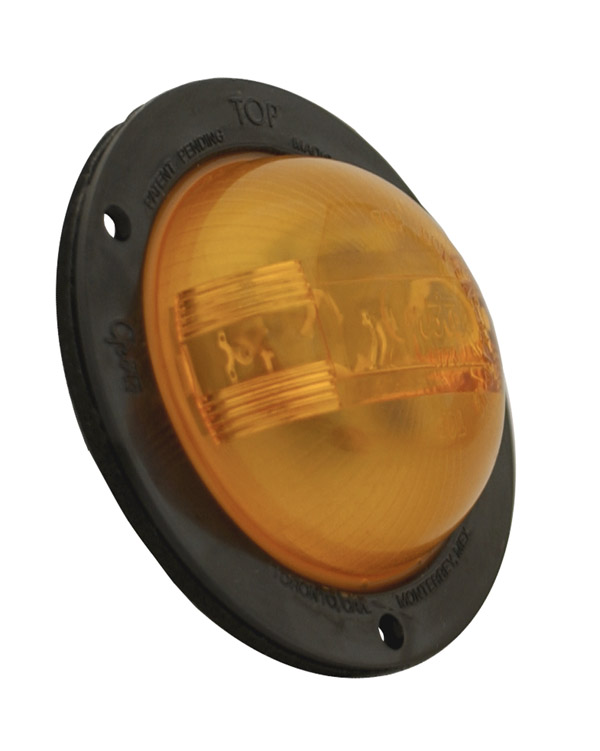 47423 –  SuperNova® 2 1/2″ PC Rated, LED Clearance Marker Light, w/ Black Theft-Resistant Flange, Yellow