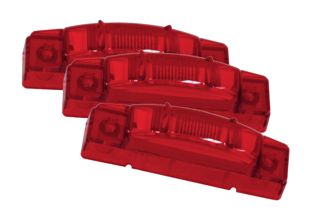 Grote Industries - 47462-3 – SuperNova® 3″ Thin-Line LED Clearance Marker Light, PC Rated, Red, Bulk Pack