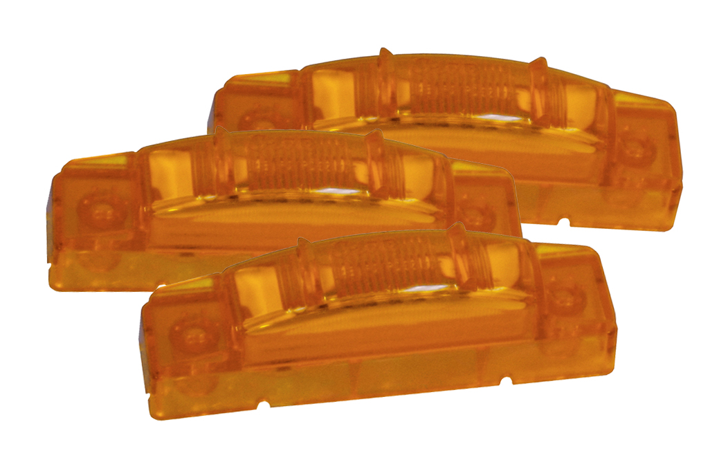 Grote Industries - 47463-3 – SuperNova® 3″ Thin-Line LED Clearance Marker Light, PC Rated, Yellow, Bulk Pack