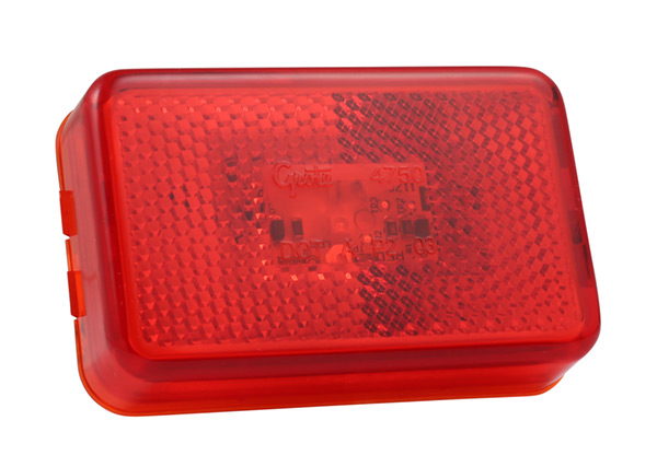 Grote Industries - 47502 – SuperNova® LED Clearance Marker Light w/ Built-In Reflector, Red
