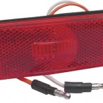 Sealed Rectangular LED Clearance Marker Light, Red