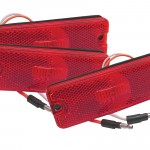Sealed Rectangular LED Clearance Marker Light bulk red