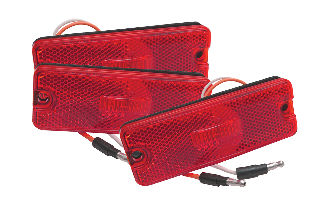 Grote Industries - 47732-3 – Sealed Rectangular LED Clearance Marker Light, Red, Bulk Pack