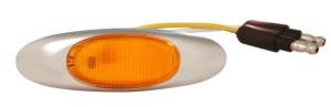 47953 – MicroNova® LED Clearance Marker Light, w/ Chrome Bezel, Yellow