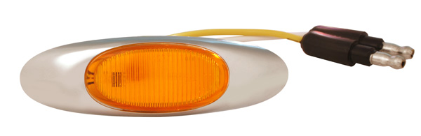Grote Industries - 47953 – MicroNova® LED Clearance Marker Light, w/ Chrome Bezel, Yellow