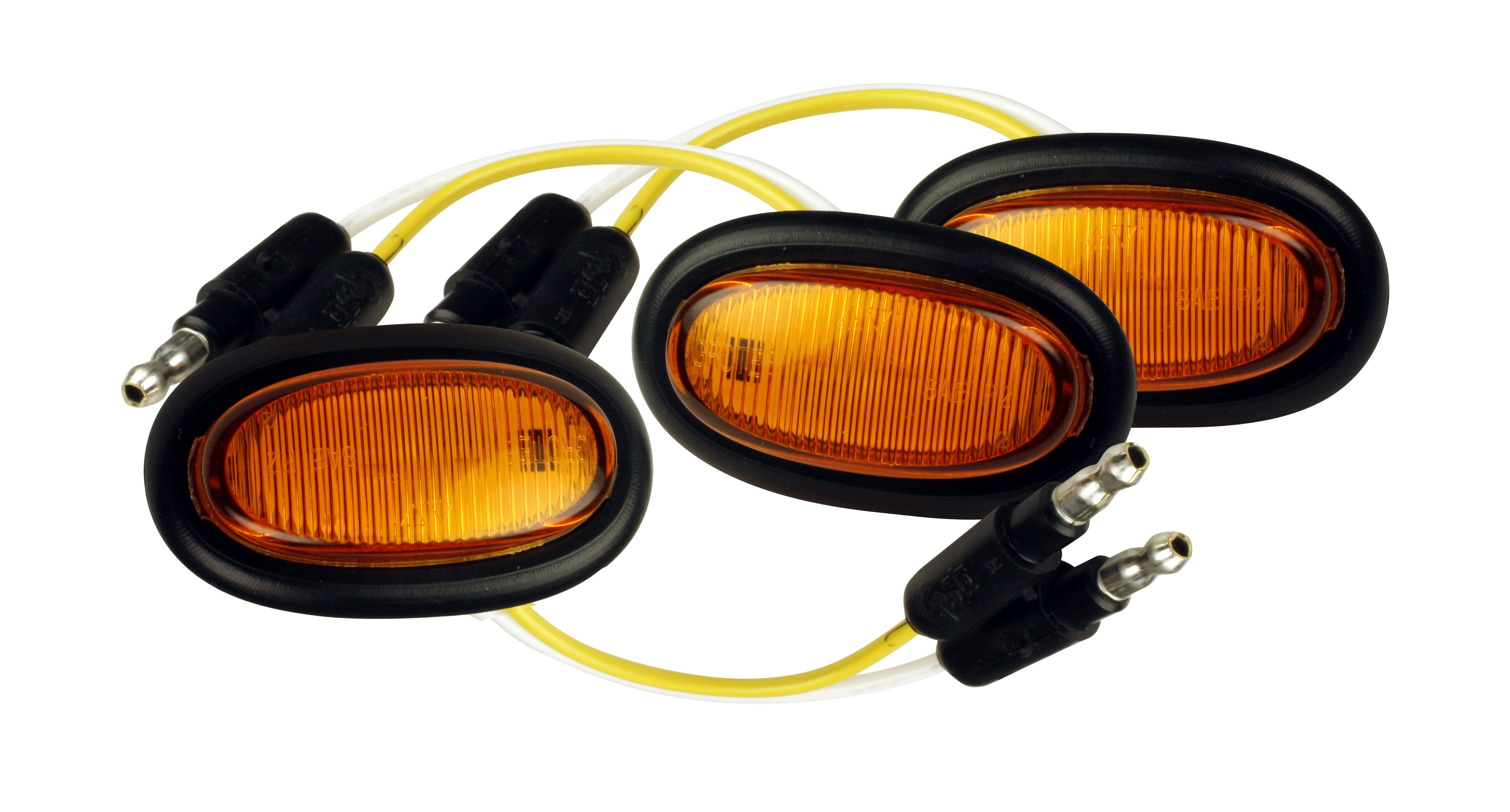 Grote Industries - 47963-3 – MicroNova® LED Clearance Marker Light, w/ Grommet, Yellow, Bulk Pack