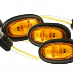 Yellow LED Clearance Marker Lights With Grommet.