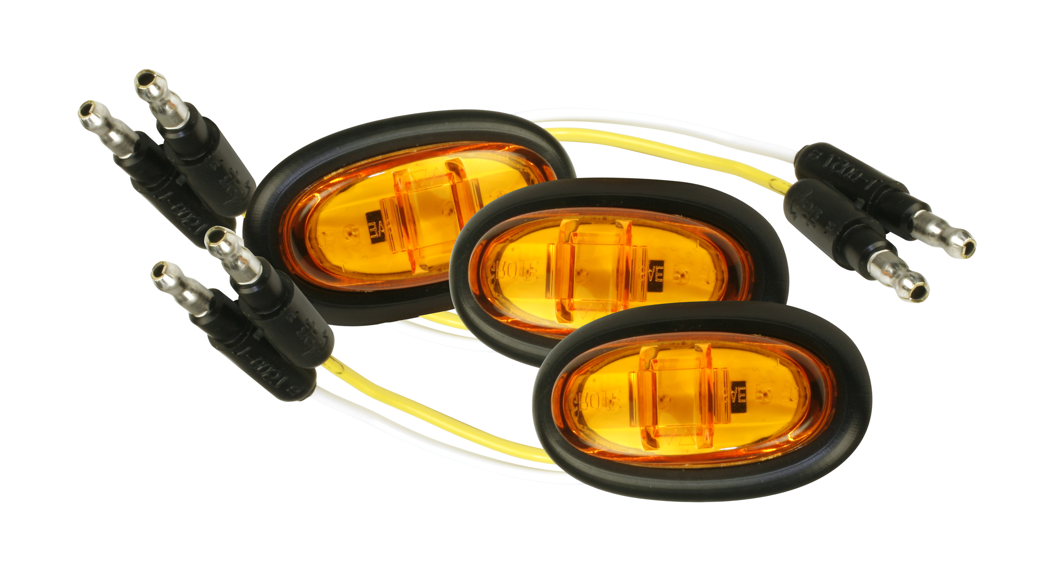 Grote Industries - 47973-3 – MicroNova® LED Clearance Marker Lights, PC Rated, w/ Grommet, Yellow, Bulk Pack