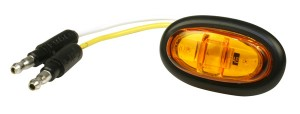 47973 – MicroNova® LED Clearance Marker Light, PC Rated, w/ Grommet, Yellow
