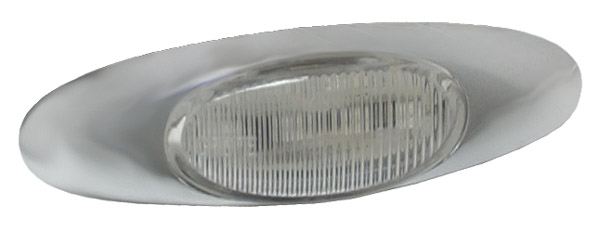 Grote Industries - 47982 – Micronova® LED Clearance Marker Light, w/ Chrome Bezel, Red/Clear