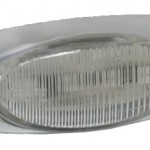 Yellow Or Clear LED Clearance Marker Light With Chrome Bezel.