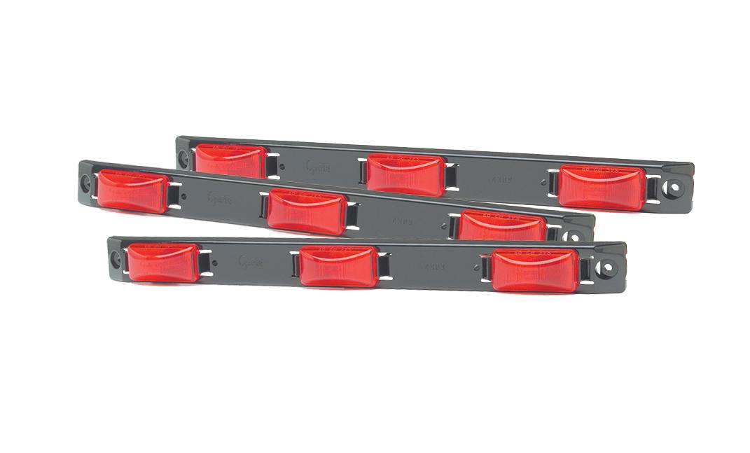 Grote Industries - 49172-3 – Bar Light, US15 Plastic Series, Red, Bulk Pack