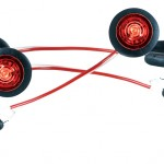 Micronova® Dot Red LED Clearance Marker Lights With Grommet.