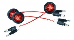 49322-3 – MicroNova® Dot LED Clearance Marker Light, w/ Grommet, P2 Rated, Red, BulkPack