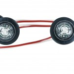 MicroNova® Dot White LED Clearance Marker Lights With Grommet.
