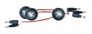 49341-3 – MicroNova® Dot LED Clearance Marker Light, w/ Grommet, ECE R7 Rated, White, Bulk Pack