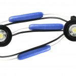 MicroNova® Dot White 24 Volt LED Clearance Marker Lights With Grommet.