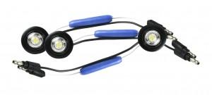 49351-3 – MicroNova® Dot LED Clearance Marker Light, w/ Grommet, ECE R7 Rated 24V, White, Bulk Pack