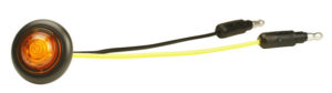 49353-3 – MicroNova® Dot LED Clearance/Marker Light, w/ Grommet, ECE R91 Rated 24V, Yellow, Bulk Pack