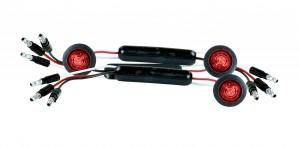 49362-3 – Dual Intensity MicroNova® Dot LED Clearance Marker Lights, Standard w/ Grommet, Red, Bulk Pack