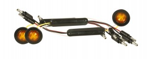 49363-3 – Dual Intensity MicroNova® Dot LED Clearance Marker Lights, Standard w/ Grommet, Yellow, Bulk Pack