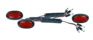 49372-3 – Dual Intensity MicroNova® LED Clearance Marker Lights, Slim-Line .180 w/ Grommet, Red, Bulk Pack