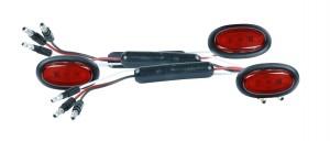 49382-3 – Dual Intensity MicroNova® LED Clearance Marker Lights, Standard .180 w/ Grommet, Red, Bulk Pack