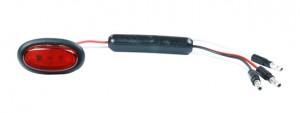 49382 – Dual Intensity MicroNova® LED Clearance Marker Light, Standard .180 w/ Grommet, Red
