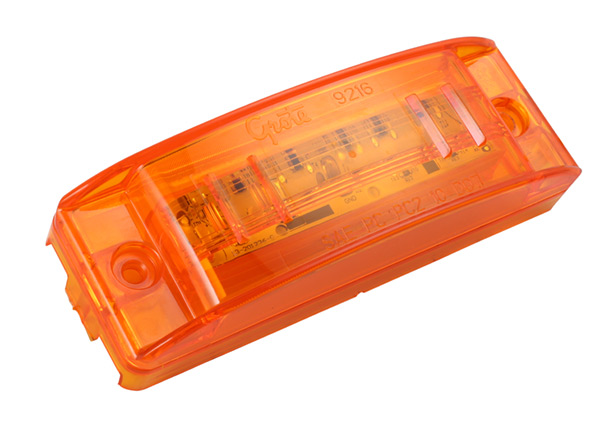 Grote Industries - 49393 – SuperNova® Sealed Turtleback® II LED Clearance Marker Light, ABS, Male Pin, Yellow