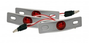 49412-3 – MicroNova® Dot LED Clearance Marker Light, w/ Adapter Bracket, PC Rated, Red, Bulk Pack