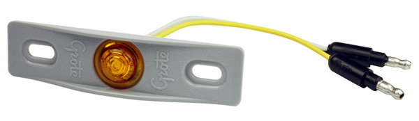 Grote Industries - 49413 – MicroNova® Dot LED Clearance Marker Light, w/ Adapter Bracket, PC Rated, Yellow