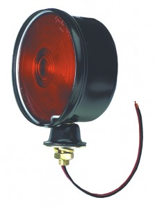 50352 – Steel Single-Face Light, Double Contact, Red